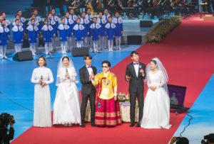 真の父母様聖婚60周年記念「孝情天宙祝福式」が盛大に挙行(速報版)